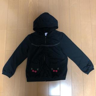 アクシーズファム(axes femme)のaxes femme kids 黒猫フード付きパーカーL(130)(ジャケット/上着)