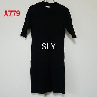 スライ(SLY)のA779♡SLY リブチュニックワンピース(チュニック)