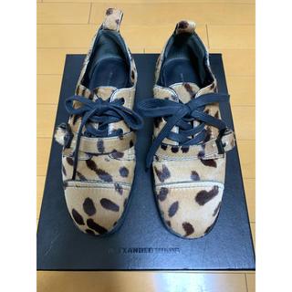 アレキサンダーワン(Alexander Wang)のAlexander wang レオパード オックスフォード(ローファー/革靴)