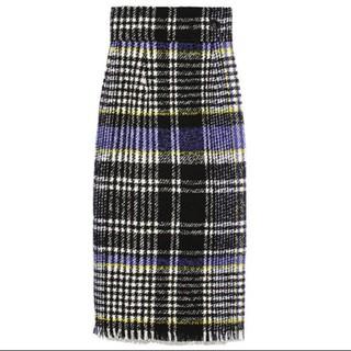 フレイアイディー(FRAY I.D)のFRAY IDチェックタイトスカート(ロングスカート)