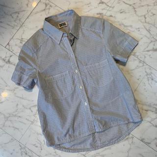 ディーゼル(DIESEL)のDIESEL(ディーゼル)綿100% ストライプ 半袖シャツ(シャツ/ブラウス(半袖/袖なし))