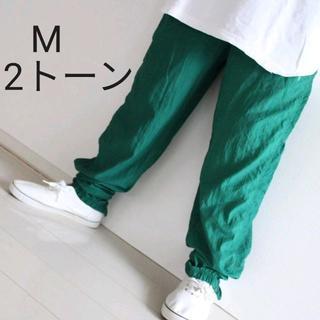 リーボック(Reebok)の【珍色】 US リーボック 2トーン 緑 ナイロン パンツ M(その他)