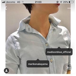 マディソンブルー(MADISONBLUE)のマディソンブルー ハイカラーマダムシャツMADISON  BLUE(シャツ/ブラウス(長袖/七分))