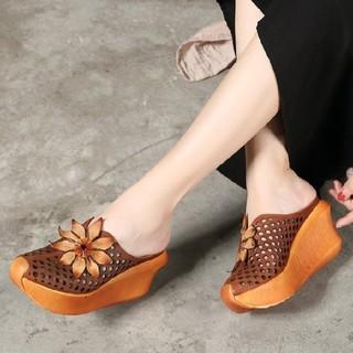 ペリーコ(PELLICO)の鹿の靴工房 牛革シューズ 厚底 ハイヒールサンダル 革靴(ローファー/革靴)