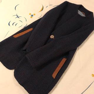 フォーティーファイブアールピーエム(45rpm)の未使用 パラスパレス ノーカラー ウール コート ジャケット ショートコート(ロングコート)