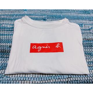 アニエスベー(agnes b.)のagnes b. × ADAM ET ROPE' Tシャツ ホワイト Lサイズ(Tシャツ/カットソー(半袖/袖なし))