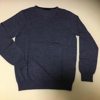 メンズメルローズ(MEN'S MELROSE)のMEN'S MELROSE Vネックセーター(ニット/セーター)