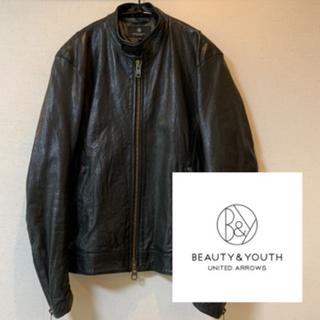 ビューティアンドユースユナイテッドアローズ(BEAUTY&YOUTH UNITED ARROWS)のBEAUTY & YOUTH ユナイテッドアローズ レザージャケット ブラック(レザージャケット)