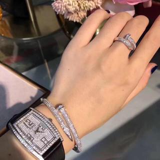 カルティエ(Cartier)の大幅値下げ♡キラキラ一本釘ブレスレット&リングセット♡(ブレスレット)