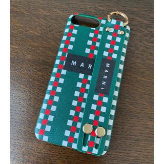 マルニ(Marni)のMARNI マルニ iPhone 7plus ケース グリーン 新品(iPhoneケース)