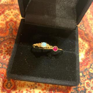 ルビーの指輪とオパールの指輪セット(リング(指輪))