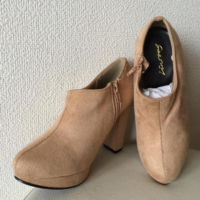 salus(サルース)のスエード調 ショートブーツ ブーティー ベージュM レディースの靴/シューズ(ブーティ)の商品写真