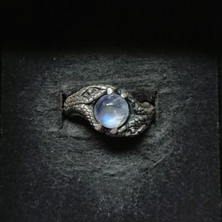 ★シルバー925 天然石 スネークリング [ ブルームーンストーン ]★(リング(指輪))