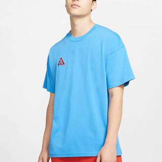 ナイキ(NIKE)のNIKE ACG ロゴ Tシャツ 半袖 青 BQ7343(Tシャツ/カットソー(半袖/袖なし))