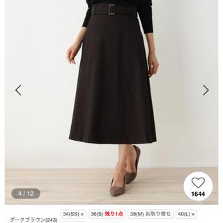 オペークドットクリップ(OPAQUE.CLIP)のスカート  チェックスカート(ひざ丈スカート)