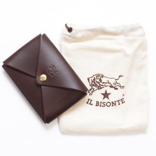 IL BISONTE - 新品 イルビゾンテ カードケース オリガミ 名刺入れ コインケース ブラウン
