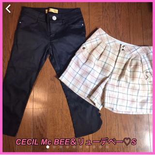 セシルマクビー(CECIL McBEE)の美品♡CECIL Mc BEE ブラック パンツ♡S(カジュアルパンツ)