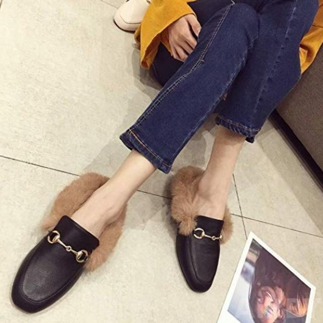 ファー付き ローファー レディース 35〜40 (22.5〜25.0cm)  レディースの靴/シューズ(スリッポン/モカシン)の商品写真