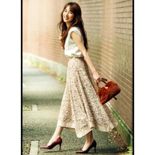 ジャスグリッティー(JUSGLITTY)の最終値下げ ジャスグリッティー 今季 レースアシメ刺繍スカート(ロングスカート)
