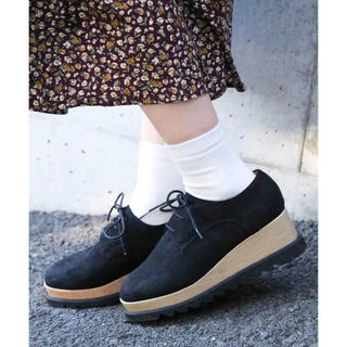 ウィゴー(WEGO)のコンビ厚底シューズ(ローファー/革靴)
