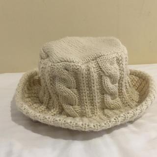 トゥデイフル(TODAYFUL)の今期新作♡縄編みknit hat  アイボリー(ハット)