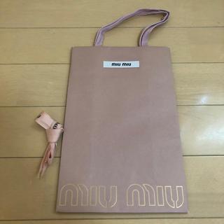 ミュウミュウ(miumiu)のmiumiu リボン、紙袋(ショップ袋)
