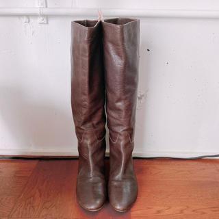 ◆アトリエブルージュ ブーツ 24.5 ダークブラウン (ブーツ)