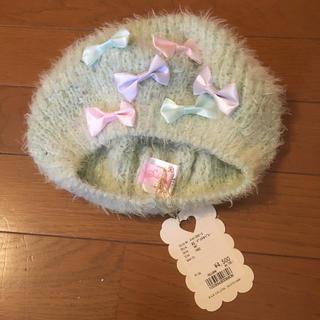 スワンキス(Swankiss)の新品未使用スワンキスモスグリーンパステルベレー帽(ハンチング/ベレー帽)