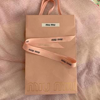 ミュウミュウ(miumiu)のmiumiu ミュウミュウ リボン 紙袋 ショッパー snidel (ショップ袋)
