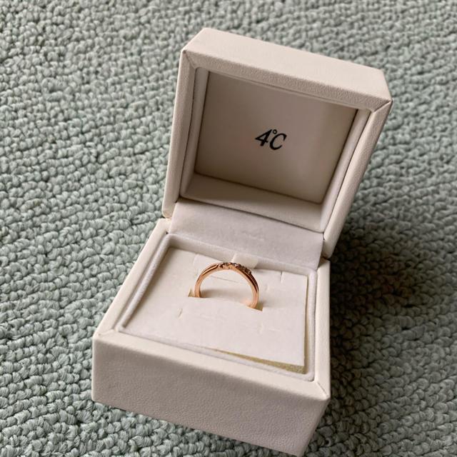 4℃(ヨンドシー)の4℃ ピンキーリング【K10ピンクゴールド ピンキーリング】 レディースのアクセサリー(リング(指輪))の商品写真