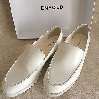 エンフォルド(ENFOLD)のエンフォルド  レザー ローファー スニーカー  38(ローファー/革靴)