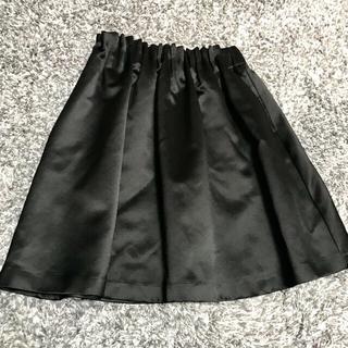 ジュエルチェンジズ(Jewel Changes)のジュエルチェンジズ  フレアスカート   ブラックサテン 黒(ミニスカート)