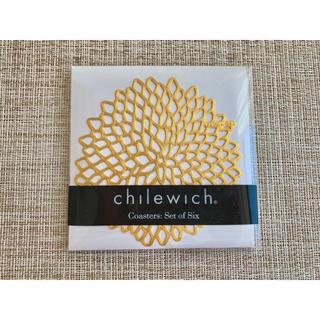 バーニーズニューヨーク(BARNEYS NEW YORK)のchilewich コースター6枚セット ゴールド(テーブル用品)
