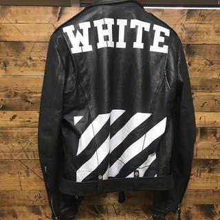 オフホワイト(OFF-WHITE)の【入手不可能】OFF WHTEレザージャケット(レザージャケット)