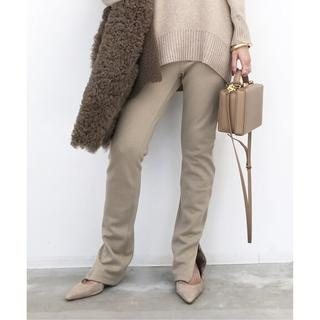 アパルトモンドゥーズィエムクラス(L'Appartement DEUXIEME CLASSE)の新品☆Wool Zip Leggings☆ベージュ(スキニーパンツ)