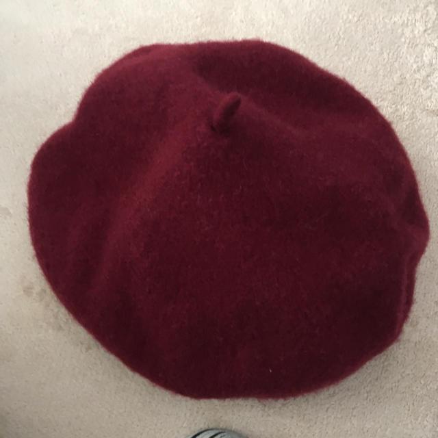 earth music & ecology(アースミュージックアンドエコロジー)のベレー帽 レッド レディースの帽子(ハンチング/ベレー帽)の商品写真