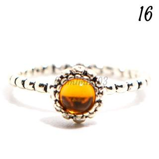 Q3 リング 16号 ラインストーン 黄色 ラウンド カラフル キュート(リング(指輪))