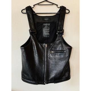 アンユーズド(UNUSED)のUNUSED(アンユーズド)strap vest black ブラック 即日発送(ベスト)