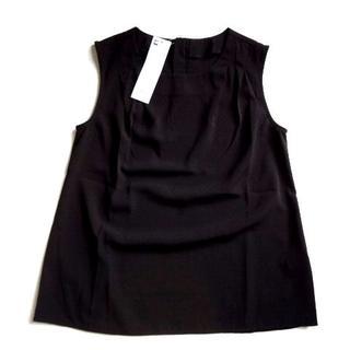ジーユー(GU)の新品 GU ジーユー バックジップ プルオーバー ノースリーブ ブラウス(シャツ/ブラウス(半袖/袖なし))