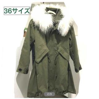 ツモリチサト(TSUMORI CHISATO)のルシェルブルー 人気完売!フードライナー付きミリタリーモッズコート (モッズコート)