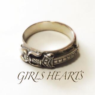 送料無料8号クロムシルバー925ダガースタンプリング指輪値下げクロムハーツ好きに(リング(指輪))