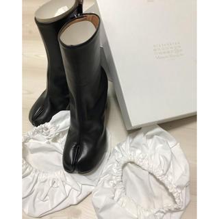 マルタンマルジェラ(Maison Martin Margiela)のマルジェラ足袋ブーツ8㎝黒 38(ブーツ)