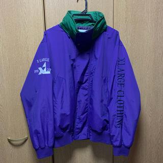 エクストララージ(XLARGE)の【激レア】90s エクストララージ 刺繍ロゴ セーリングジャケット パープル(ナイロンジャケット)