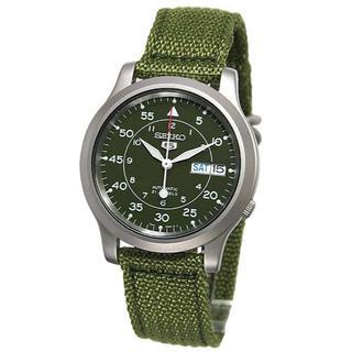 セイコー(SEIKO)のセイコ自動巻腕時計 防水男女共用 最後の一点 ミリタリーカーキグリーン (腕時計(アナログ))