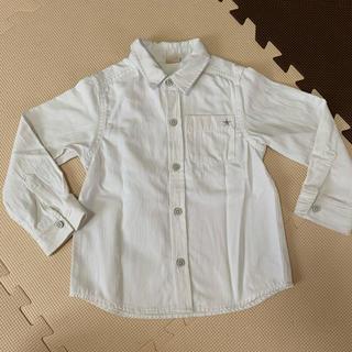 プティマイン(petit main)のpetit main 白シャツ 110(Tシャツ/カットソー)