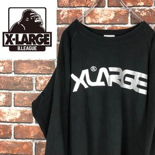 エクストララージ(XLARGE)の古着 エクストララージ  デカロゴ スウェット トレーナー ブラックxlarge(スウェット)
