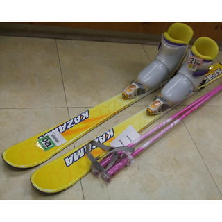 子供用スキー3点セット スキー板 KAZAMA