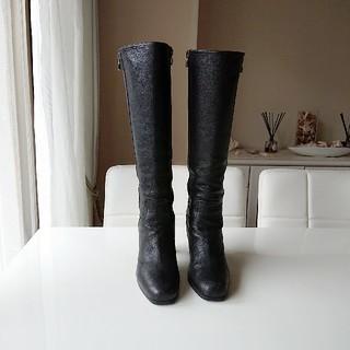 プラダ(PRADA)のPRADAプラダ レザーロングブーツ(ブーツ)