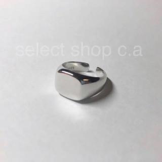 アパルトモンドゥーズィエムクラス(L'Appartement DEUXIEME CLASSE)のシルバー925 スクエアリング silver925 リング(リング(指輪))