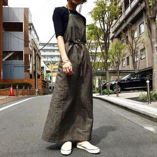 ★wryht★ ATELIER DRESS GLEN CHECK アトリエドレス(ロングワンピース/マキシワンピース)